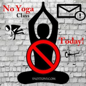 Online Yoga Cancelled sign