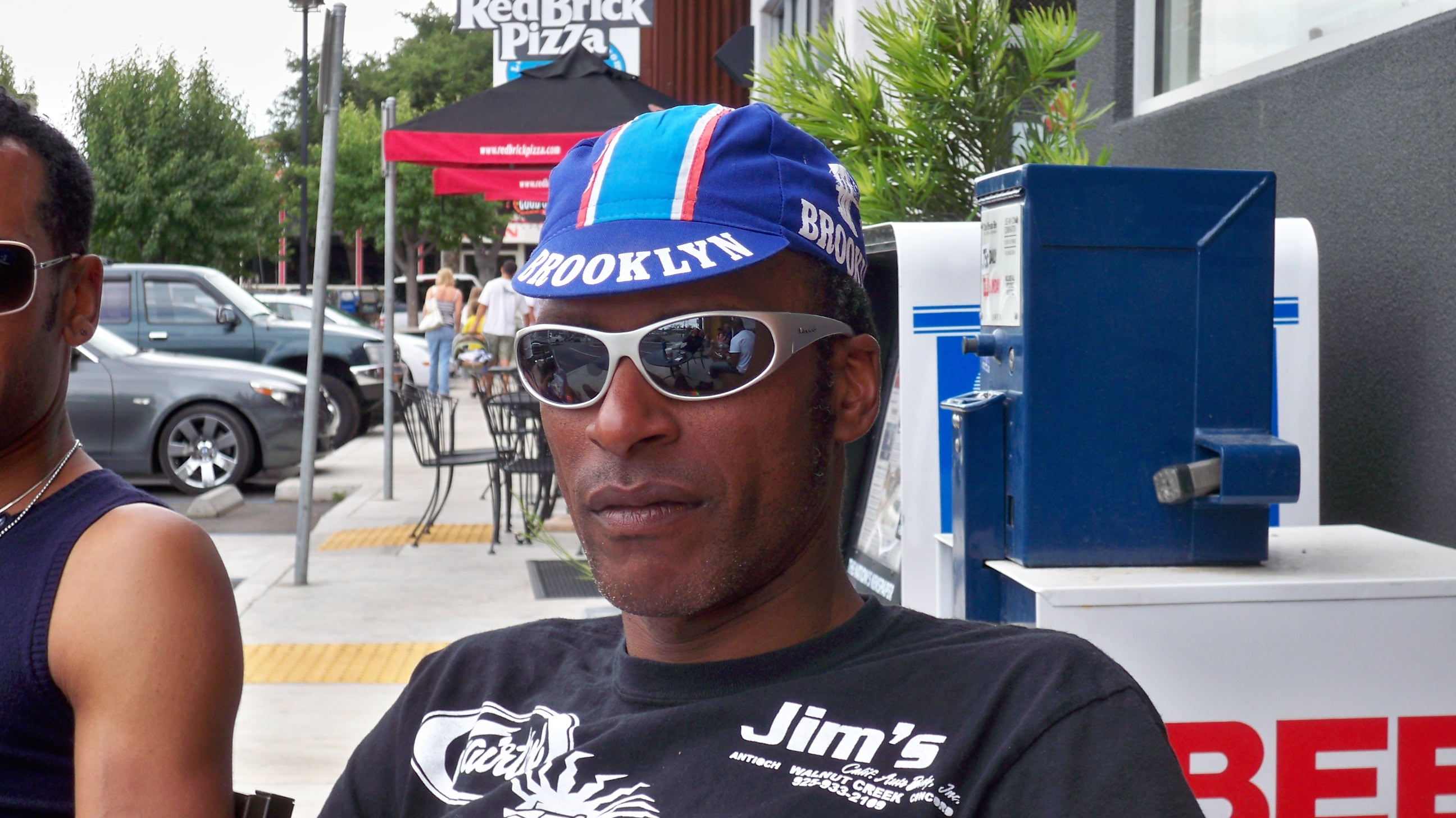 AIDS/Lifecycle Cyclist Resting at Pit Stop