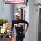 AIDS/Lifecycle Cyclist Tony Eason in New belguim wool jersey