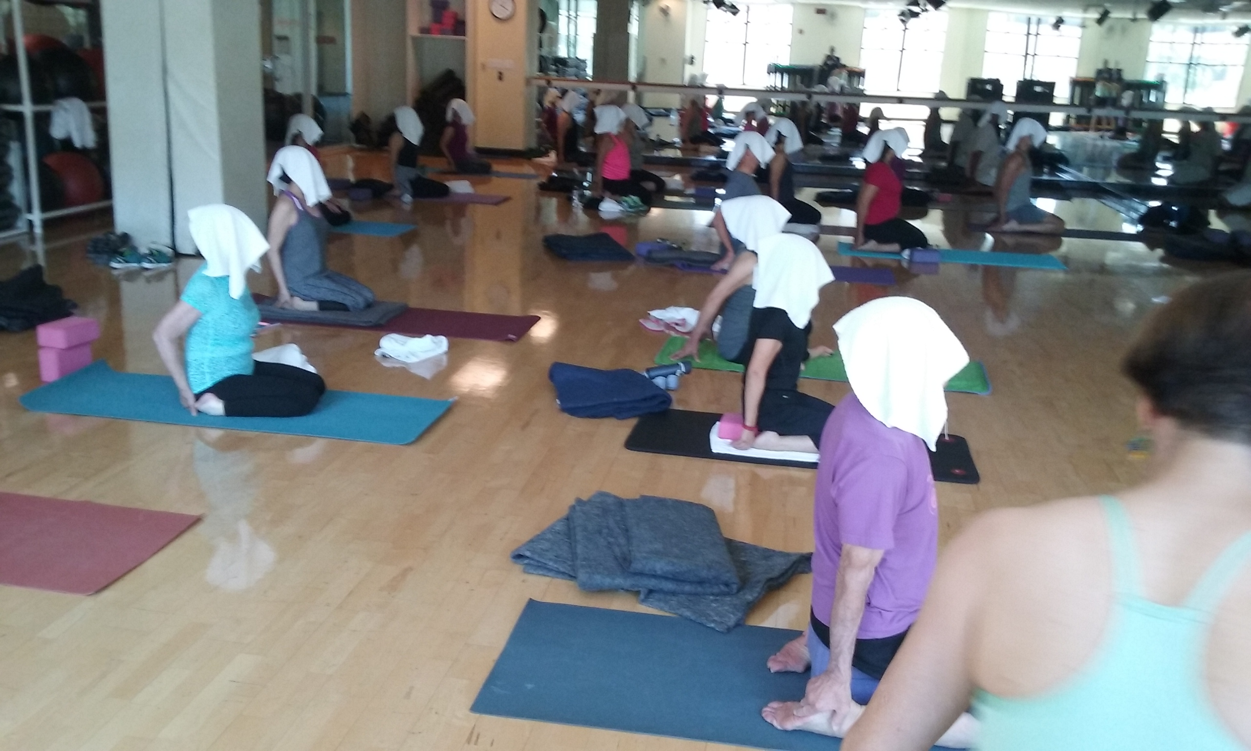 Yoga students at Active Sports Club