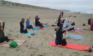 Free Yoga on the beach of SF