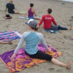 Yoga Class on the beach of San Francisco