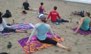 Yoga Class on the beach of San Francisco
