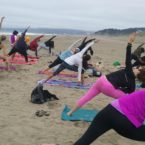 Yoga Class on the beach in San Francisco