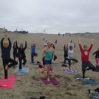 Yoga Class at Ocean Beach San Francisco