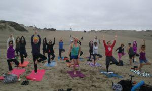 Yoga Class at Ocean Beach San Francisco