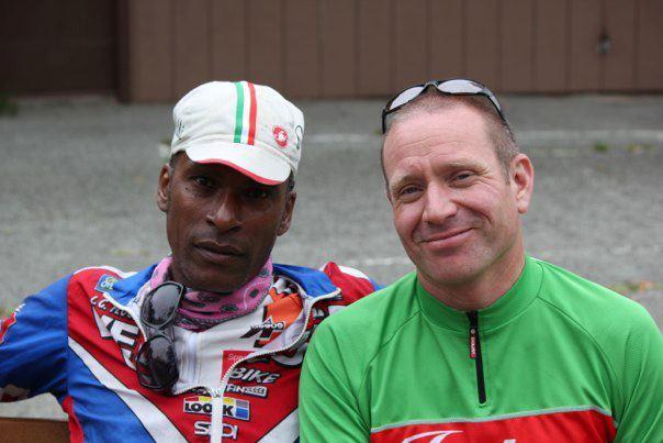Cyclist Bill Smullin & Tony Eason