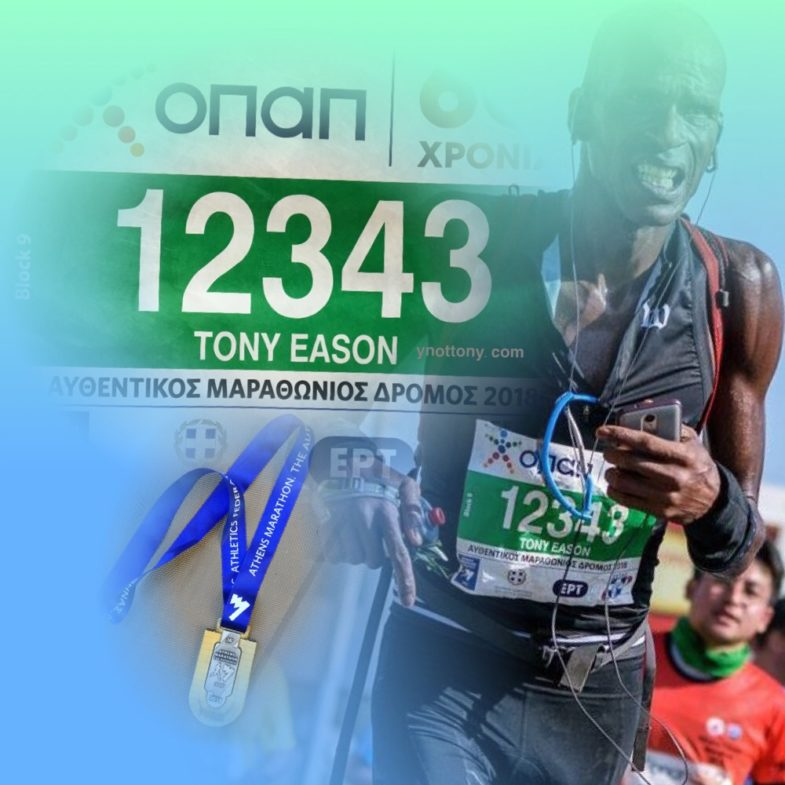 Athens Marathon Runner Tony Eason