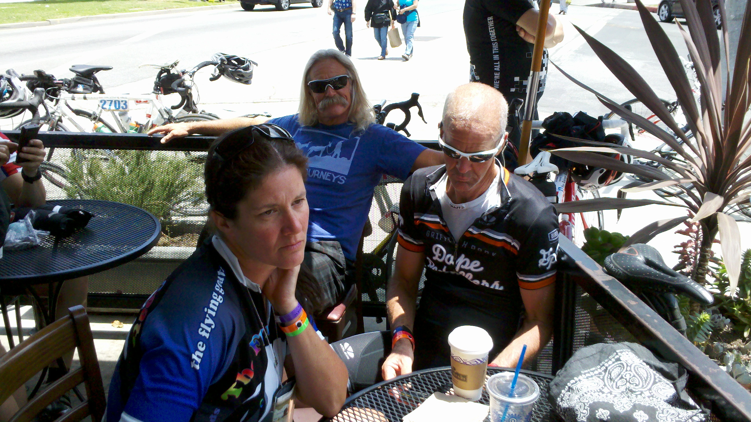 AIDS/Lifecycle Cycling Team at Peet's Coffee