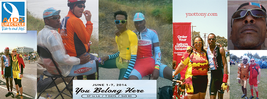 AIDS/Lifecycle Cyclist Collage