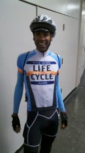 AIDS/Lifecycle Cyclist, David Sears in official jersey