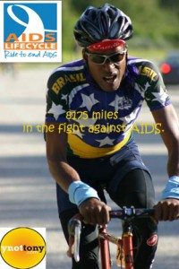 Cyclist Tony Eason wearing official Brazil Bike Jersey