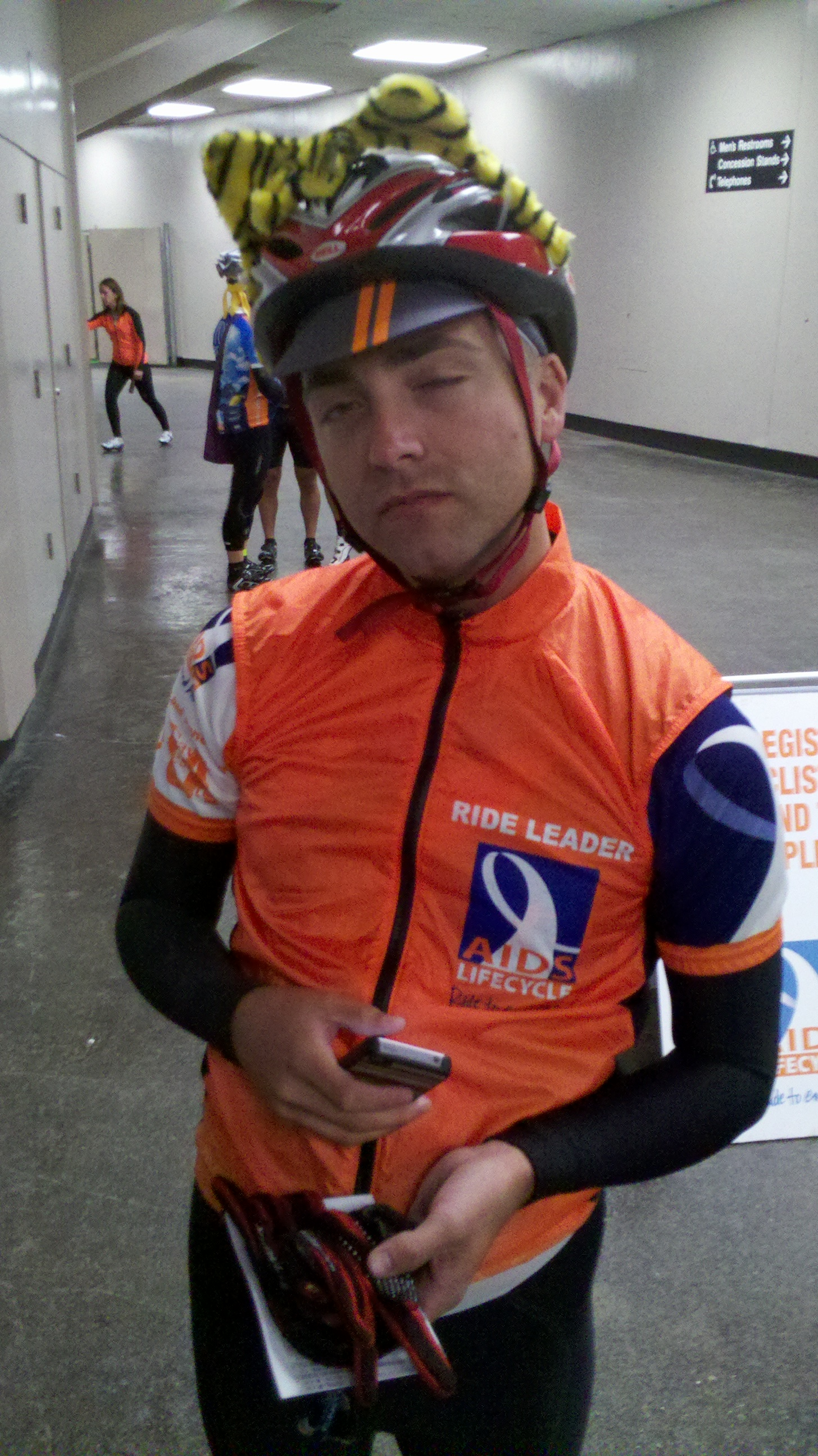 AIDS/Lifecycle Cyclist, Michael Bracco preparing for Day #1