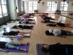 Active Sports Club Yoga Students in Savasana