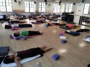 Active Sports Club Yoga Students in Savasana
