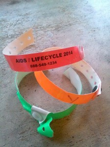 AIDS/Lifecycle Bracelents
