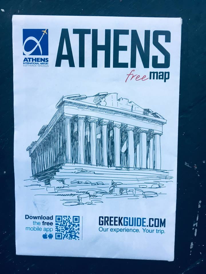 Map of Athens, Greece