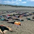 Yoga Students doing beach Yoga |San Francisco