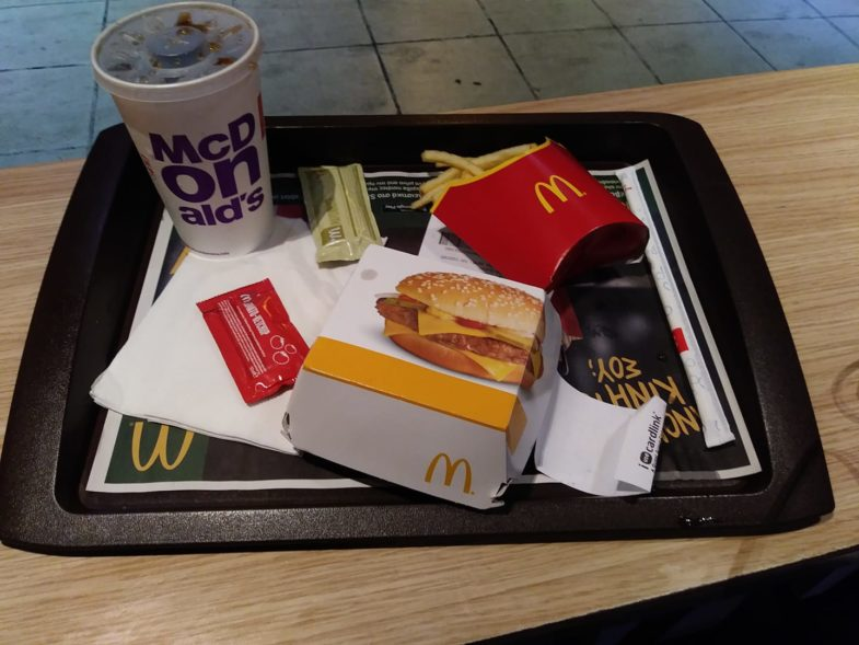 Athens Greece McDonald's Meal