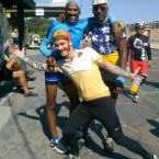 AIDS/Lifecycle Cyclist Rob Bouillard, David Sears and Tony Eason
