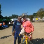 AIDS/Lifecycle Cyclist Tony Eason and The Chicken Lady