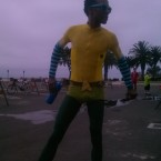 AIDS/Lifecycle cyclist david sears as AquaMan
