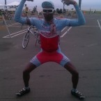 AIDS/Lifecycle Cyclist Tony Eason poses in Soulcraft Bike Gear