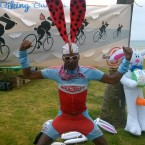 AIDS/Lifecycle Cyclist Dressed as a Bunny