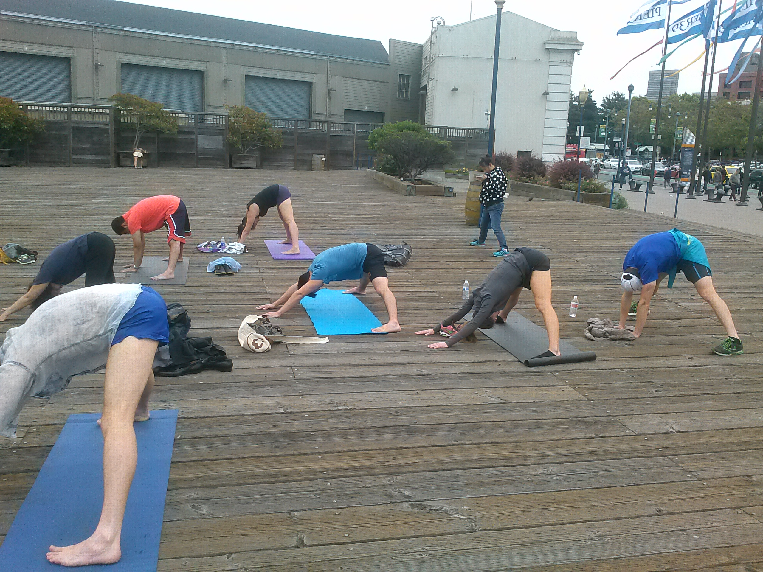 Yoga Students at Pier 39 San Francisco