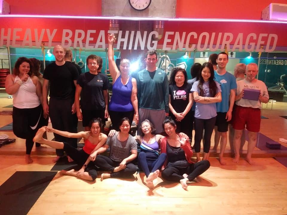 Crunch Fitness Yoga Students