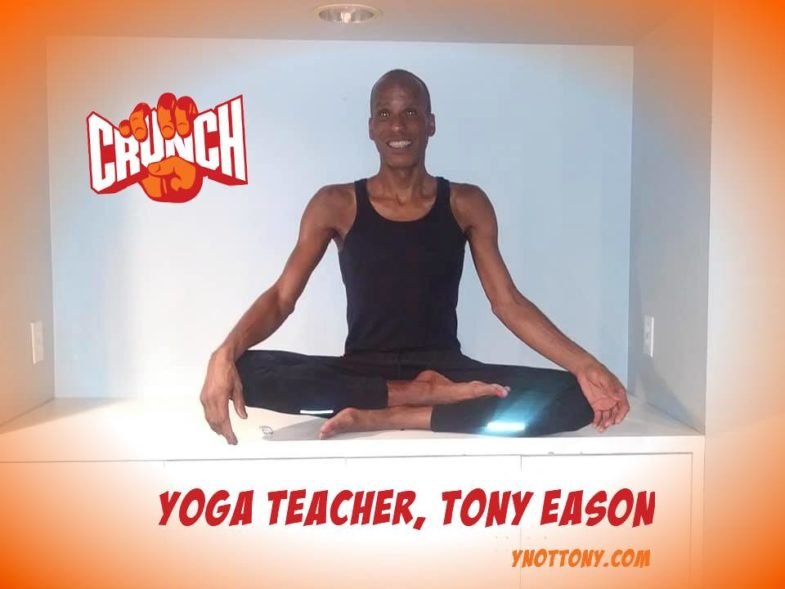 Yoga teacher tony eason at Crunch Gym Yerba Buena, San Francisco