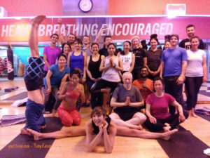 Yoga Teacher, Tony Eason and Yoga Students