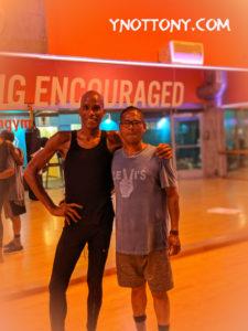 Yoga Teacher and Yoga Students at Crunch Gym
