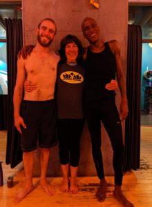 Yoga Teacher & Yoga Students at Crunch Gym