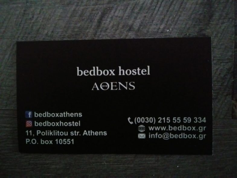 Bedbox Hostel Athens Address