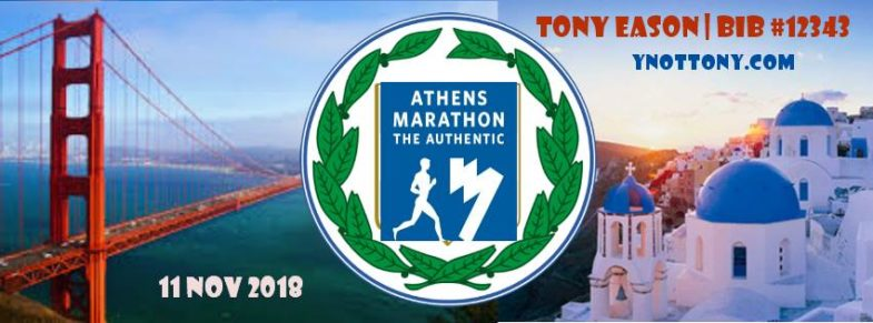 Athens Marathon Finisher Tony Eason