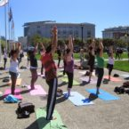 Yoga students City Hall sf