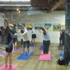 Yoga students at Sports Basement