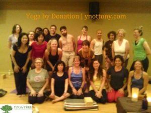 Yoga students at Yoga Tree