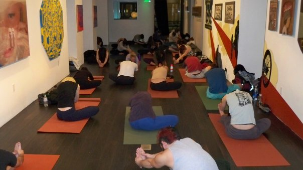 Yoga students in San francisco