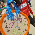 AIDSLIFECYCLE THE COOKIE LADY AND RIDER TONY EASON