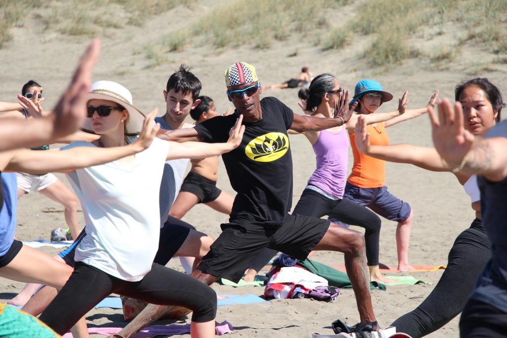 Donation Yoga Class on Ocean Beach, San Francisco