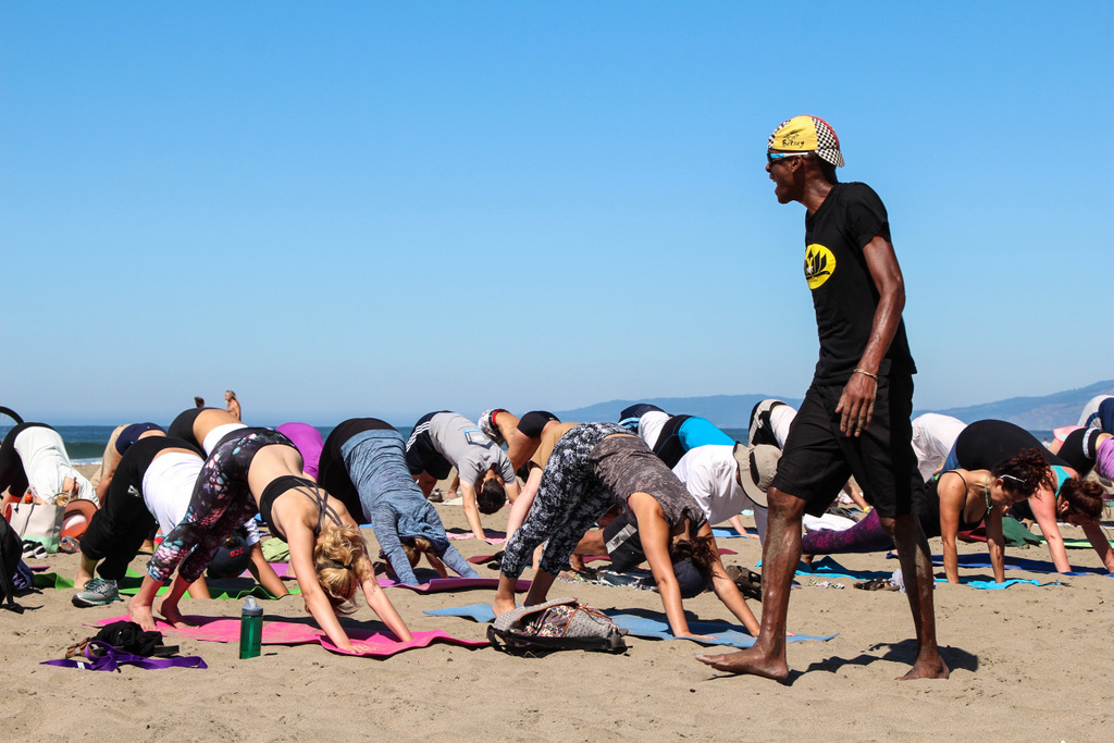 African American yoga teacher San francisco