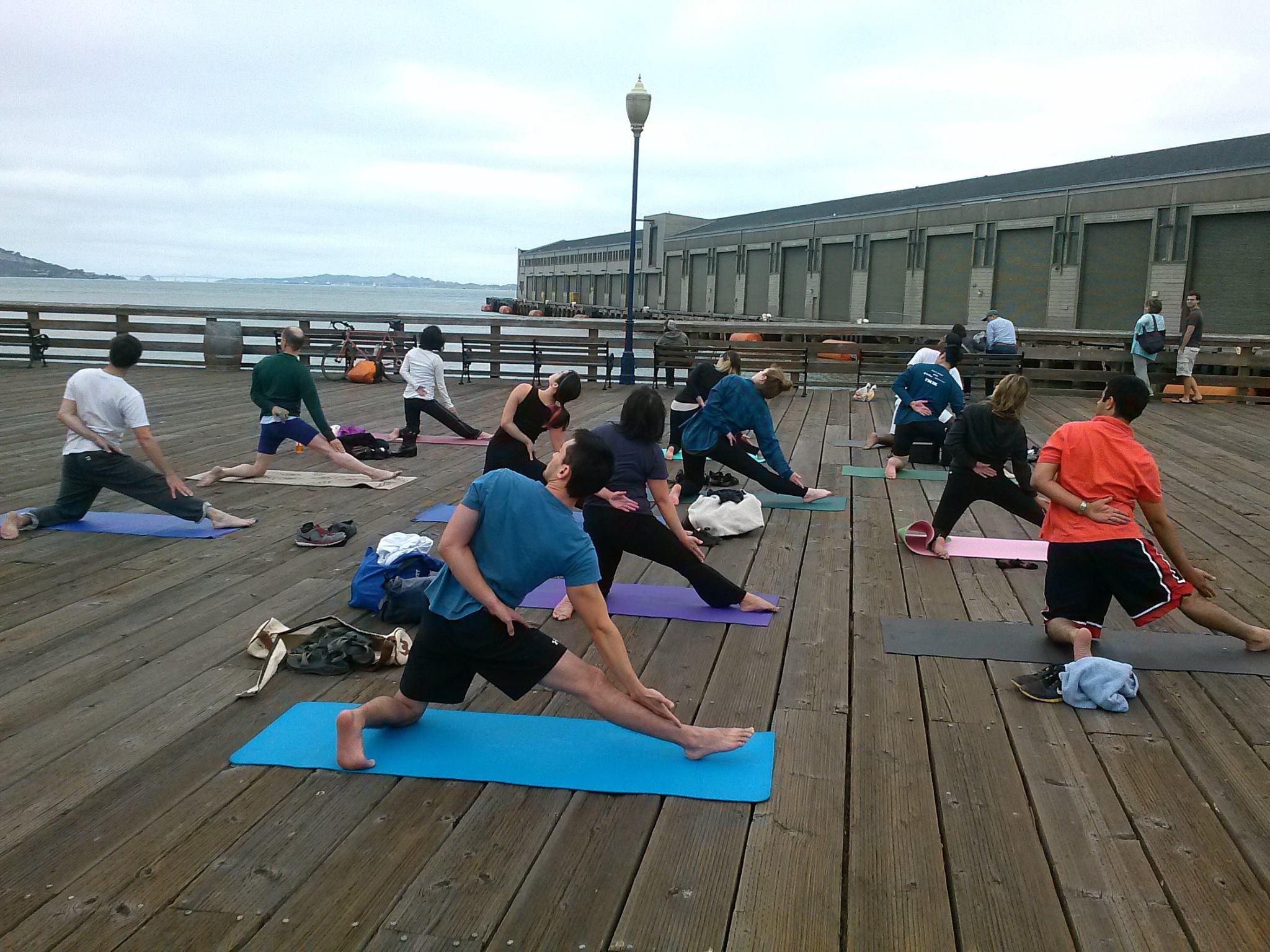 San Francisco Yoga Class Pier 39