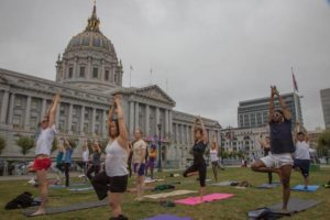 City Hall Yoga Class SF