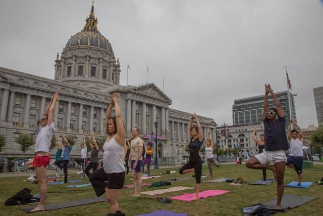 City Hall Yoga Class SF