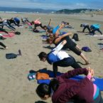 Yoga on the beach sf