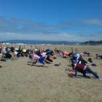 Yoga Students Outdoor Yoga Class