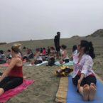 Yoga Teach and yoga students sf