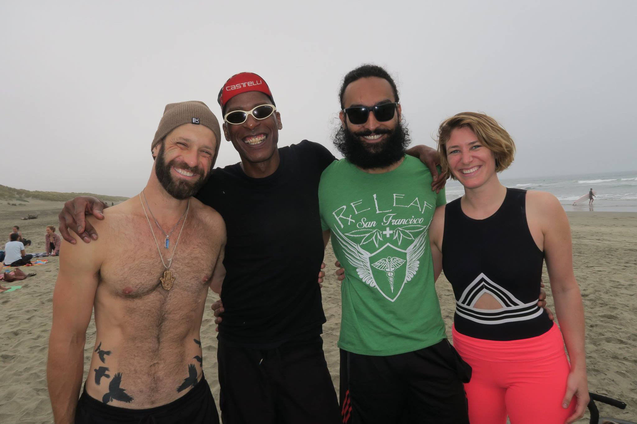 Four Yoga teachers in San francisco